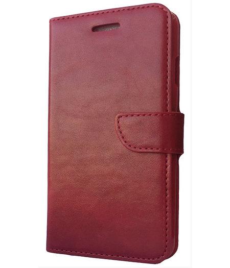 HEM Rood boekje voor HTC One M7 met vakje voor pasjes, geld en fotovakje