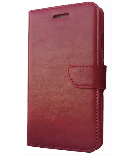 HEM Rood boekje voor de Samsung Galaxy S5 mini met vakje voor pasjes, geld en fotovakje