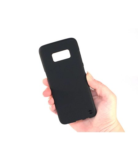 HEM Mat Zwart Siliconen Gel TPU Cover / hoesje Samsung S8 SM-G950