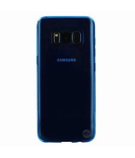 HEM Blauwe Transparant Siliconen Gel TPU Cover / hoesje Samsung S8 SM-G950