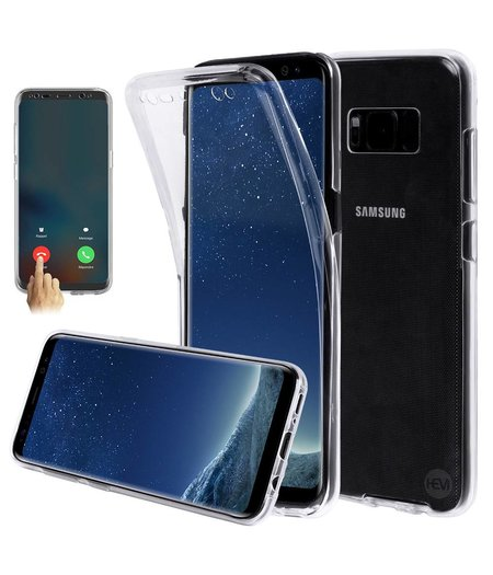 HEM Shockproof 360° Transparant Samsung S8 SM-G950 Siliconen Ultra Dun Gel TPU Hoesje Full Cover / Case