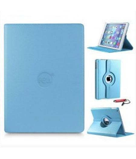 HEM Licht Blauwe 360 graden draaibare hoes iPad 2/3/4 met gekleurde stylus pen