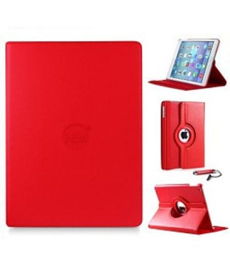 HEM Rode 360 graden draaibare hoes iPad 2/3/4 met gekleurde stylus pen