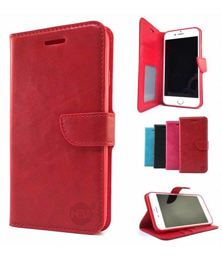 HEM Rode Wallet / Book Case / Boekhoesje/ Telefoonhoesje / Hoesje Samsung Galaxy S6 Edge SM-G925 met vakje voor pasjes, geld en fotovakje