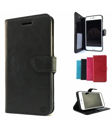 HEM Zwarte Wallet / Book Case / Boekhoesje / Telefoonhoesje / Hoesje Huawei P9 met vakje voor pasjes, geld en fotovakje