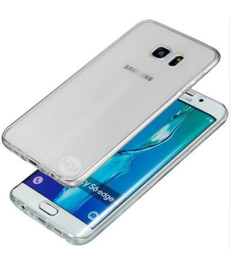Galaxy S6 Edge SM-G925 Full protection siliconen transparant voor 100% bescherming