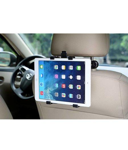 HOC Stevige Universele iPad/Tablet houder auto (type 7 tot 12 inch) hoofdsteun houder 360 graden draaibaar inclusief uitschuifbare Hoesjesweb Stylus Pen, Hoesjes apple iPad