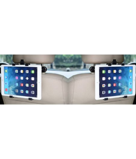 - SET van 2 Stevige Universele iPad/Tablet houders auto (type 7 tot 12 inch) hoofdsteun houders inclusief 2 uitschuifbare Hoesjesweb Stylus Pennen, Hoesjes apple iPad