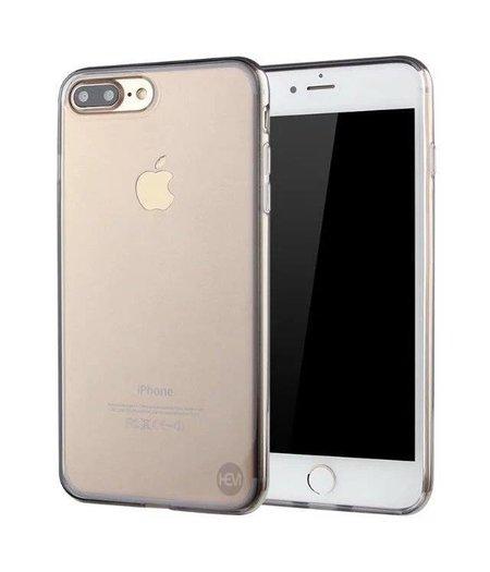 HEM iPhone 7/8 Plus zwart siliconenhoesje transparant siliconenhoesje / Siliconen Gel TPU / Back Cover / Hoesje Iphone 7/8 Plus zwart doorzichtig