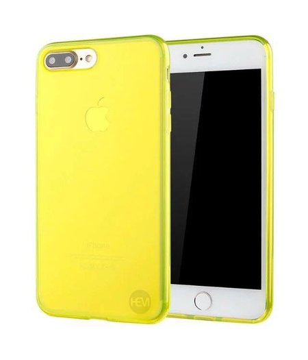 HEM iPhone 7/8 Plus geel siliconenhoesje transparant siliconenhoesje / Siliconen Gel TPU / Back Cover / Hoesje Iphone 7/8 Plus geel doorzichtig