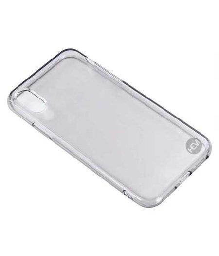 HEM iPhone X/XS siliconenhoesje zwart transparant / Siliconen Gel TPU / Back Cover / Hoesje Iphone X/XS zwart doorzichtig