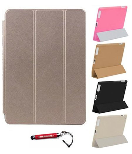 HEM iPad Air 1 Smart Cover goud / Vouw hoesjes Apple iPad Air 1 / Vouw hoesje iPad Air 1 / Inclusief handige uitschuifbare Hoesjesweb Stylus Pen