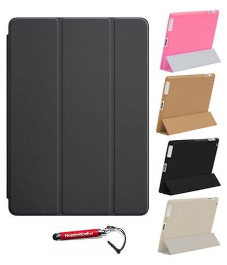 HEM iPad 4  Smart Cover zwart / Vouw hoesjes Apple iPad 4 / Vouw hoesje iPad 4  / Inclusief handige uitschuifbare Hoesjesweb Stylus Pen