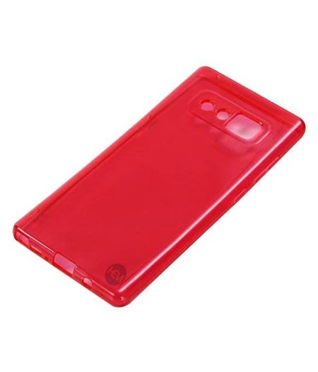 HEM Samsung Note 8 rood transparant siliconenhoesje / Siliconen Gel TPU / Back Cover / Hoesje Note 8 rood doorzichtig
