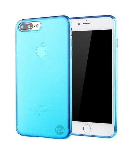 HEM iPhone 7 blauw siliconenhoesje transparant siliconenhoesje / Siliconen Gel TPU / Back Cover / Hoesje Iphone 7 blauw doorzichtig