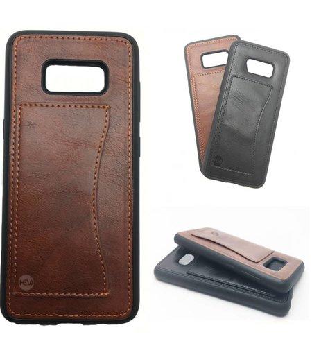 HEM Luxe Samsung S8 SM-G950 Backcover bruin /  Telefoonhoesje / Hoesje met vakje voor pasje