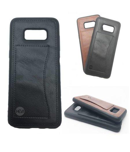 HEM Samsung S8 SM-G950 Luxe Backcover zwart /  Telefoonhoesje / Hoesje met vakje voor pasje