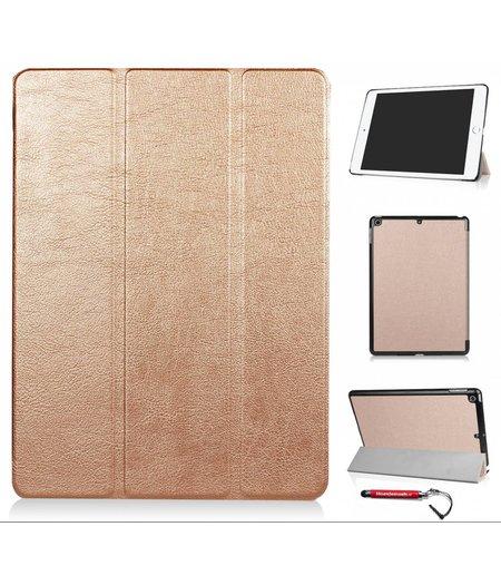 HEM hoes ipad 2017 9.7 NEWSmart Cover goud / Vouw hoesje Apple iPad 2017 / Vouw hoesje iPad 2017 / Inclusief handige uitschuifbare Hoesjesweb Stylus Pen
