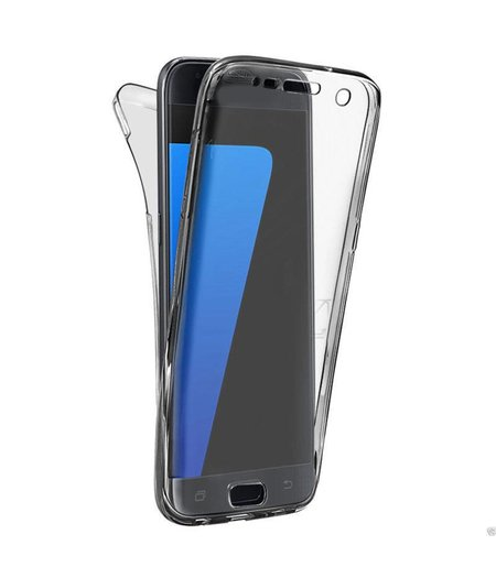 HEM Samsung A3 2017 SM-A320 Shockproof 360° Zwart Transparant Siliconen Ultra Dun Gel TPU Hoesje Full Cover / Case