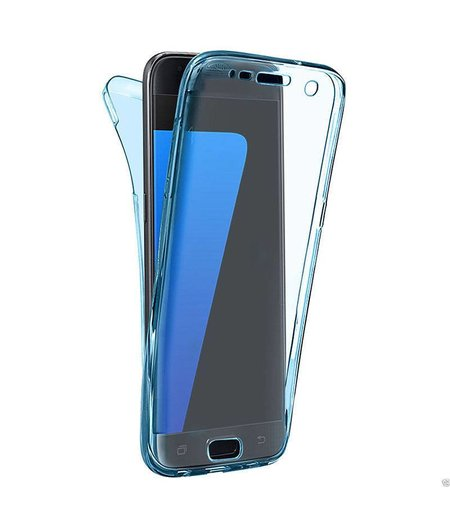 HEM Shockproof 360° Blauw Transparant Samsung A3 2017 SM-A320 Siliconen Ultra Dun Gel TPU Hoesje Full Cover / Case