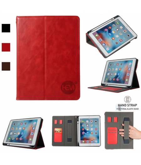 HEM Apple iPad 9.7 2017 Business Organizer Rood smartcover met handvat