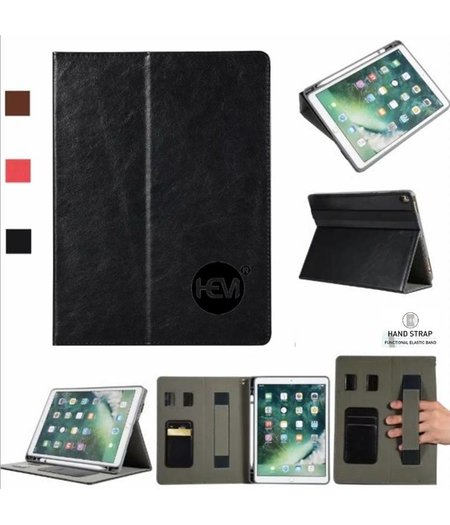 HEM Apple iPad 9.7 2017 Business Organizer Zwart smartcover met handvat