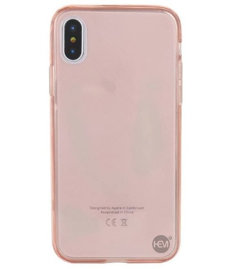HEM iPhone XS Max Shockproof 360° Roze Transparant Siliconen Ultra Dun Gel TPU Hoesje Full Cover / Case