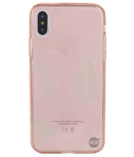 HEM iPhone XR Shockproof 360° Roze Transparant Siliconen Ultra Dun Gel TPU Hoesje Full Cover / Case