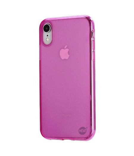 HEM iPhone XR siliconenhoesje roze / Siliconen Gel TPU / Back Cover / Hoesje iPhone XR roze  doorzichtig