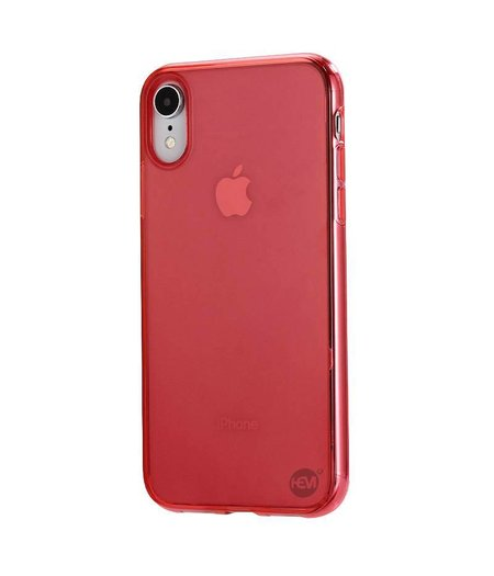 HEM iPhone XR siliconenhoesje Rood / Siliconen Gel TPU / Back Cover / Hoesje iPhone XR rood  doorzichtig