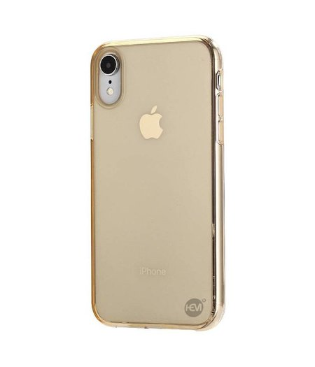 HEM iPhone XR siliconenhoesje goud / Siliconen Gel TPU / Back Cover / Hoesje iPhone XR goud doorzichtig