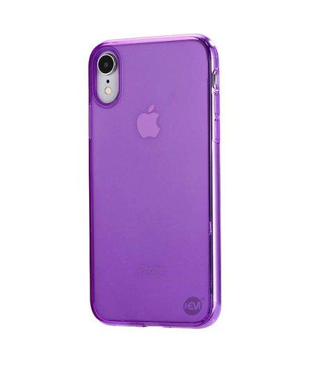HEM iPhone XR  siliconenhoesje paars / Siliconen Gel TPU / Back Cover / Hoesje iPhone XR paars  doorzichtig