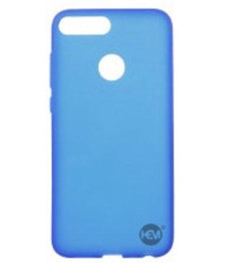 HEM Blauwe Siliconen Gel TPU / Back Cover / hoesje Huawei P Smart
