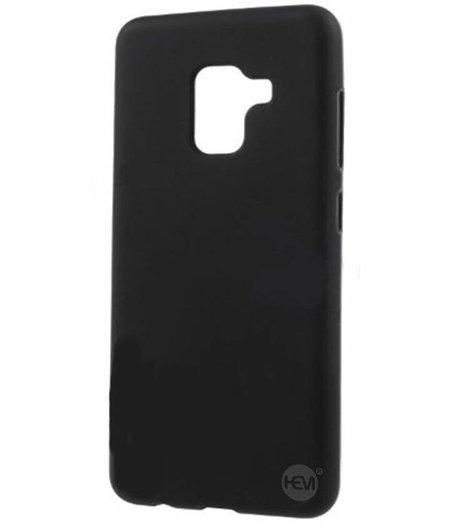 HEM Zwarte Siliconen Gel TPU / Back Cover / hoesje Samsung A8 / A5 2018