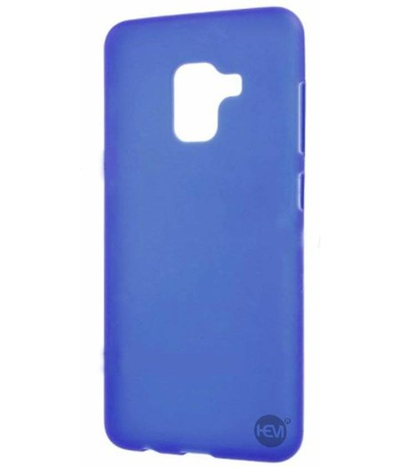 HEM Blauwe Siliconen Gel TPU / Back Cover / hoesje Samsung A5 / A8 2018