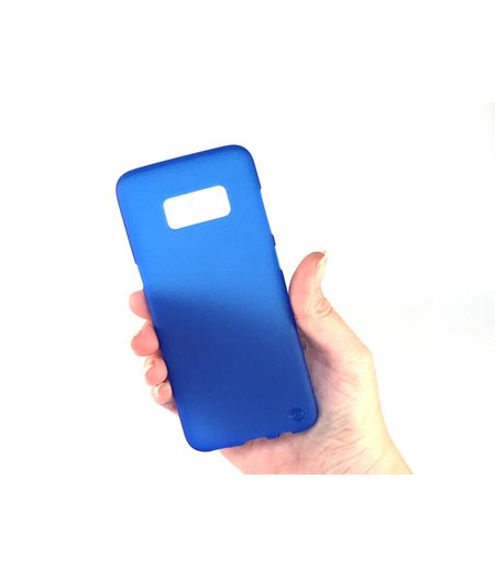 HEM Samsung S8 Plus SM-G955 Mat Blauw Siliconen Gel TPU Cover / hoesje