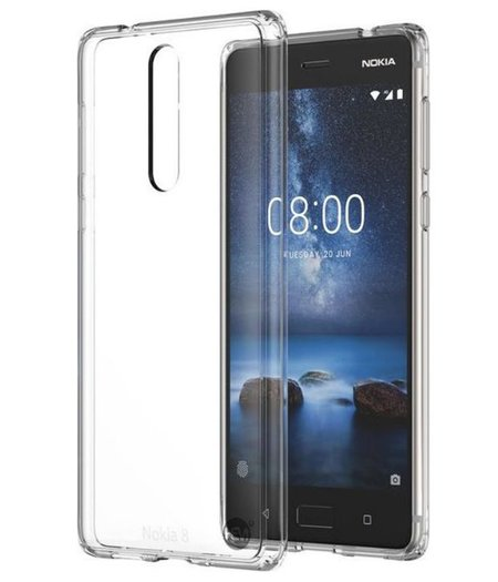 HEM Nokia 8 Transparant Siliconen Gel TPU / Back Cover / Hoesje