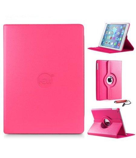 HEM iPad hoes hard roze met gekleurde touchscreenpen voor de Air / Air 2 en iPad 2017/2018 9.7 inch