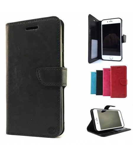 HEM Huawei P10 Lite Zwarte HEM Wallet / Book Case / Boekhoesje/ Telefoonhoesje / Hoesje met vakje voor pasjes, geld en fotovakje