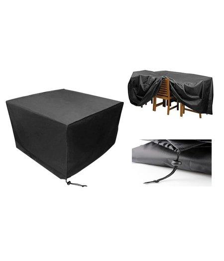 CUHOC Beschermhoes voor vidaXL Tuinset zwart poly rattan acaciahout 21-delig