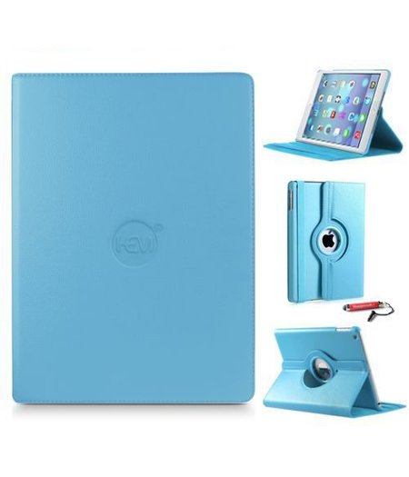 HEM iPad Pro 9.7 hoes lichtblauw met extra stabiliteit en kleurvastheid en uitschuifbare Hoesjesweb stylus