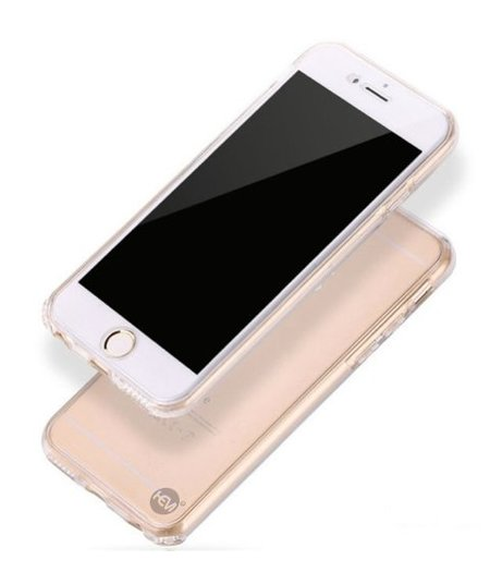 HEM iPhone 6 Plus /6s Plus Full protection siliconen transparant voor 100% bescherming