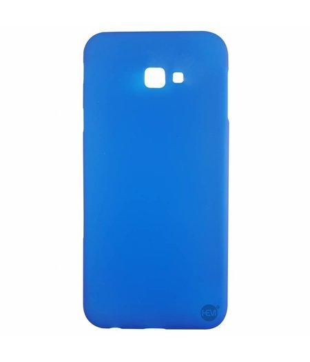HEM Samsung J4 Plus siliconenhoesje Blauw Siliconen Gel TPU / Back Cover / Hoesje