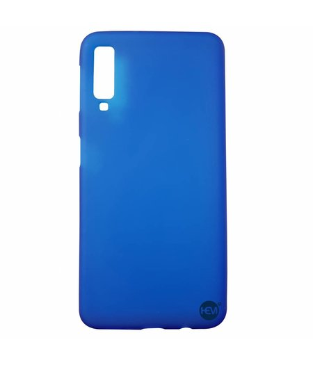 HEM Samsung A7 2018 SM-A750 siliconenhoesje Blauw Siliconen Gel TPU / Back Cover / Hoesje