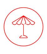 Parasolhoezen in verschillende afmetingen