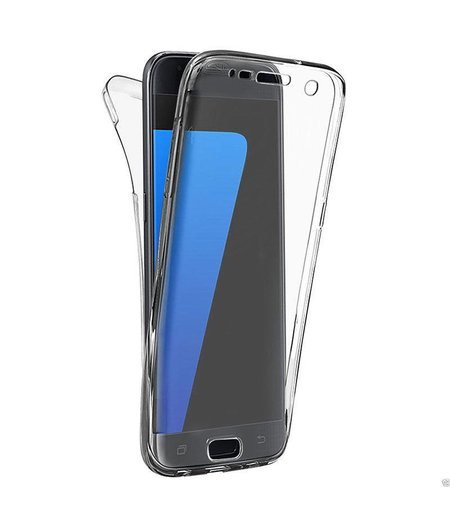 HEM Samsung S10 Plus Shockproof 360° Transparant Siliconen Ultra Dun Gel TPU Hoesje Full Cover / Case