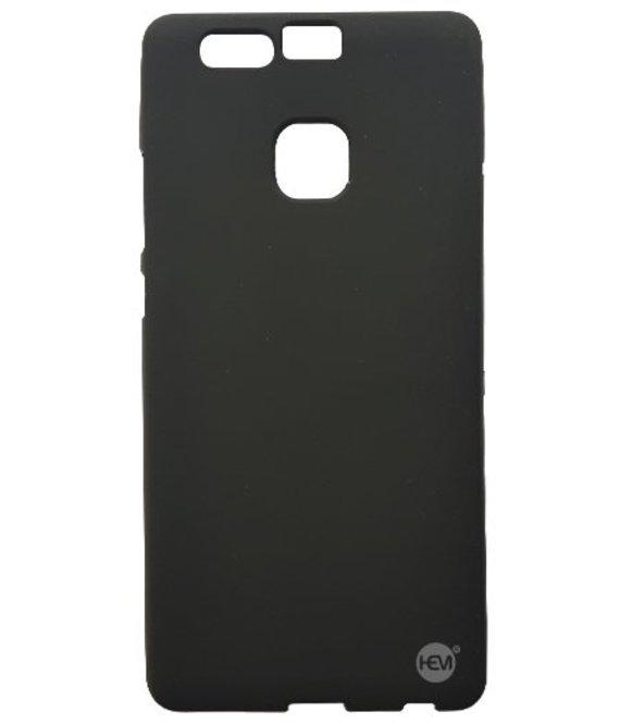 HEM Huawei P9 siliconenhoesje Mat Zwart Siliconen Gel TPU / Back Cover / Hoesje