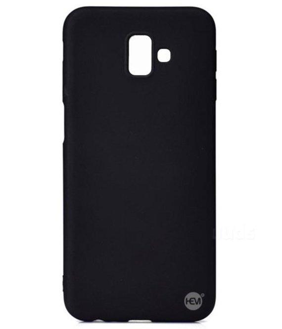 HEM Samsung J6 Plus SM-J610 siliconenhoesje Mat Zwart Siliconen Gel TPU / Back Cover / Hoesje