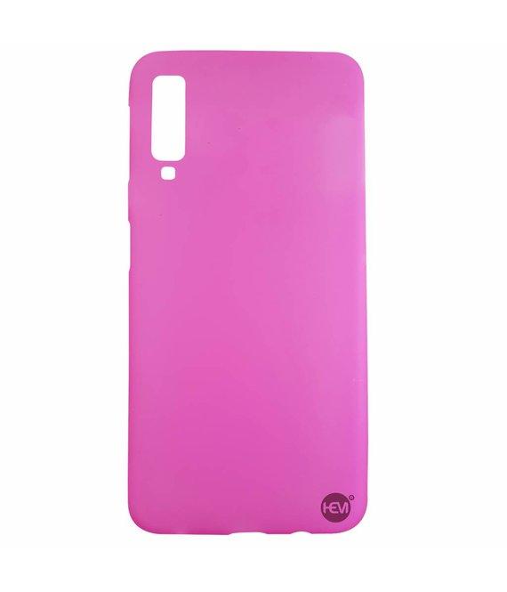 HEM Samsung A7 2018 SM-A750 siliconenhoesje Roze Siliconen Gel TPU / Back Cover / Hoesje