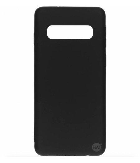 HEM Samsung Galaxy S10 siliconenhoesje Mat Zwart Siliconen Gel TPU / Back Cover / Hoesje